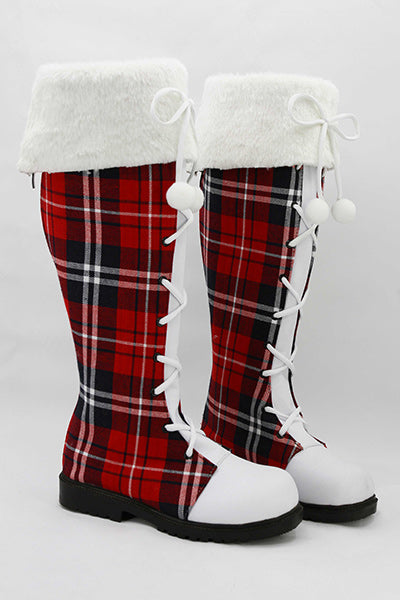 LoveLive! Botte Cosplay Chaussures Noël Version