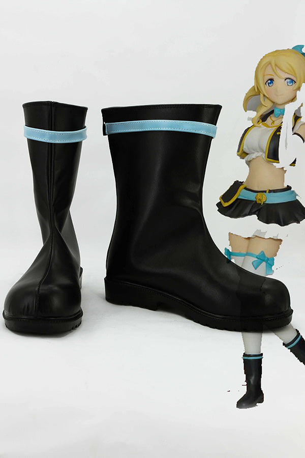 LoveLive! Eli Ayase Botte Cosplay Chaussures