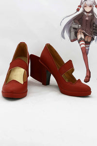 Kantai Collection Destroyer  Japonais Amatsukaze Botte Cosplay Chaussures