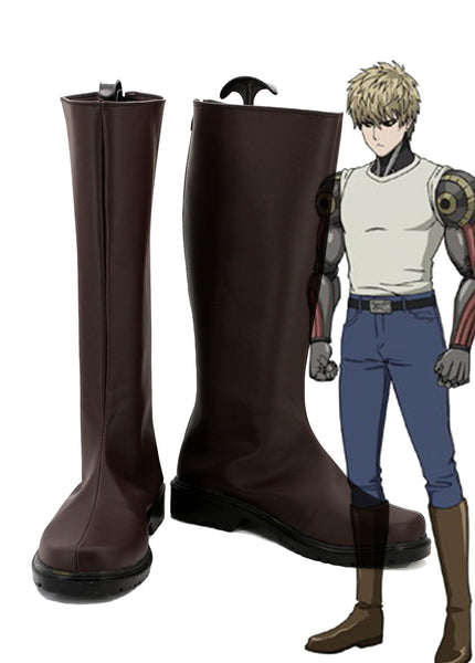 One Punch Man Demon Cyborg Genos Cosplay Chaussures