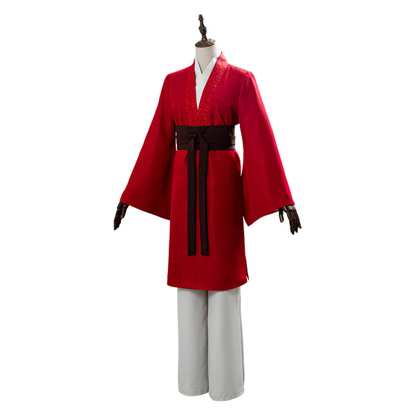 2020 Mulan Film Mulan Hanfu Rouge Cosplay Costume