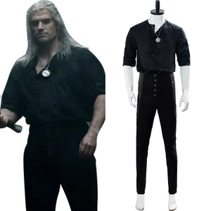 The Witcher Netflix TV Henry Cavill Geralt of Rivia Cosplay Costume