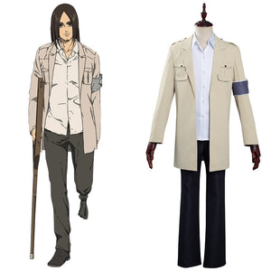 Shingeki no Kyojin S4 Attack on Titan Eren Yeager Cosplay Costume