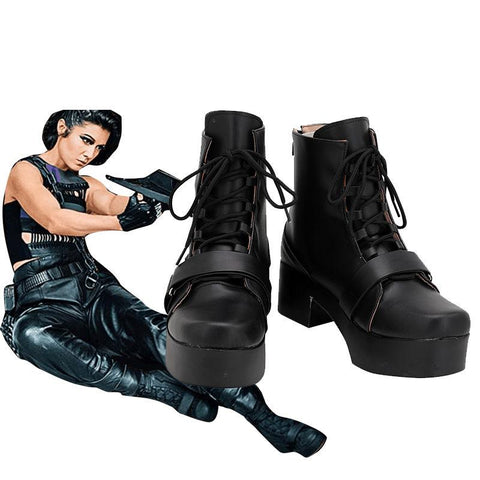 Birds of Prey Huntress Helena Bertinelli Cosplay Chaussures