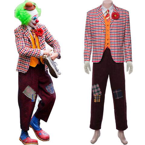 Joker 2019 Joaquin Phoenix Arthur Fleck Joker Clown Tenue Cosplay Costume