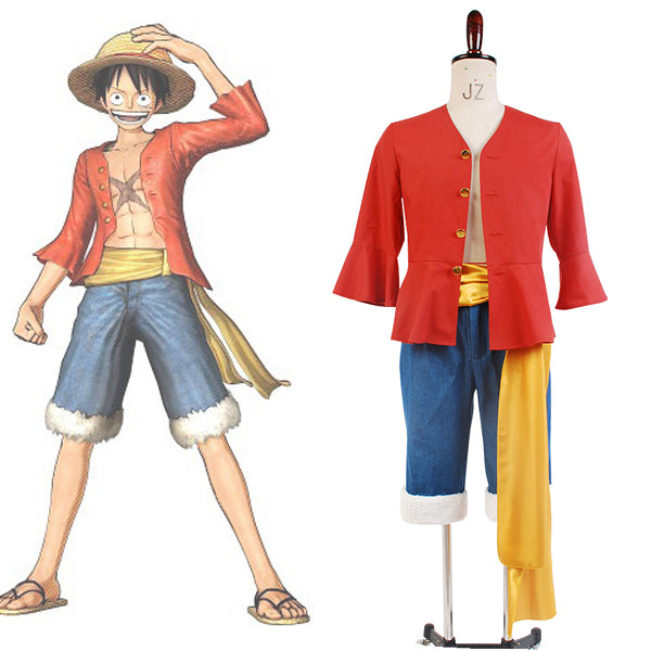 One Piece Monkey D Luffy Cosplay Costume