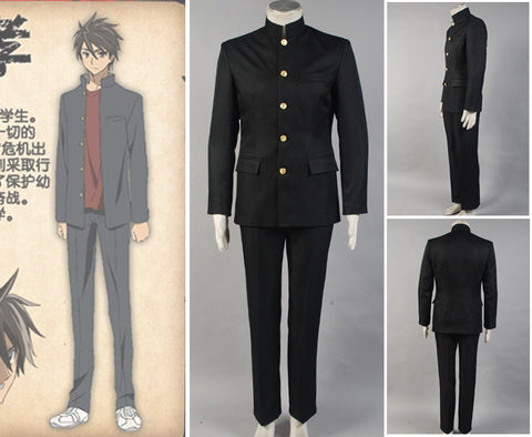 HighSchool of the Dead HOTD Takashi Komuro Cosplay Costume