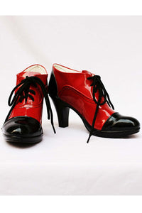Black Butler Grell Cosplay Chaussures Noir et Rouge