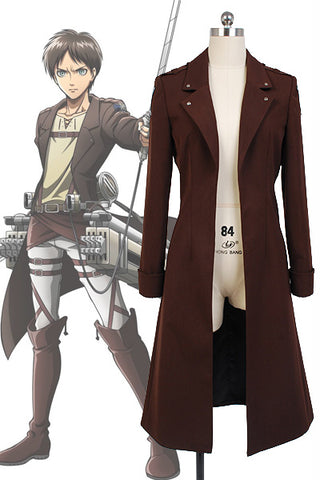 Shingeki no Kyojin Attack on Titan Eren Jaeger Manteau Cosplay Costume