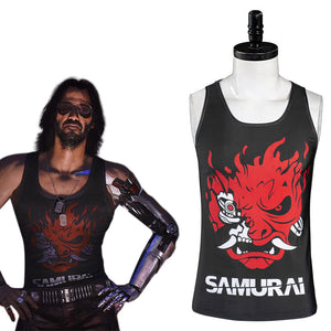 Cyberpunk 2077 Johnny Silverhand Tee-shirt Cosplay Costume