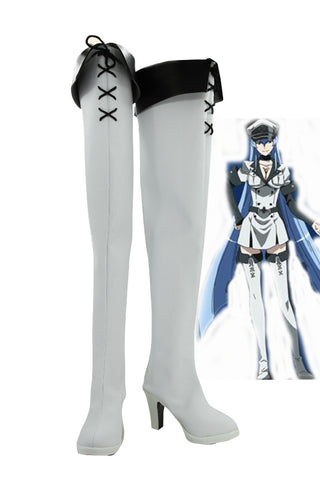Akame ga KILL! Esdeath General d'Empire Bottes Cosplay Chaussures