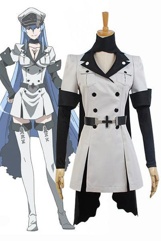 Akame ga KILL! Esdeath Général d'Empire Uniforme Cosplay Costume