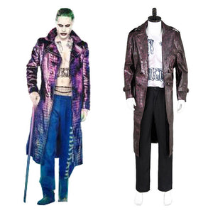 Batman Suicide Squad Jared Leto Joker Manteau Pourpre Cosplay Costume