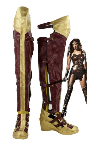 Batman v Superman : L'Aube de la justice Wonder Woman Bottes Cosplay Chaussures