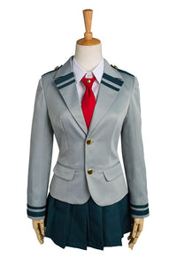 Boku no Hero Academia My Hero Academia Tsuyu School Uniforme Cosplay Costume
