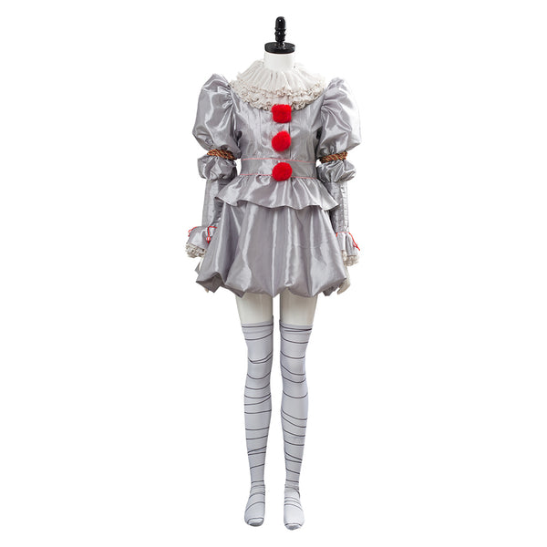 Ca film 2019 It: Chapter Two Pennywise Femme Robe Cosplay Costume