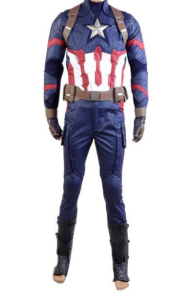 Captain America 3: Civil War Captain Steve Rogers Uniforme Cosplay Costume