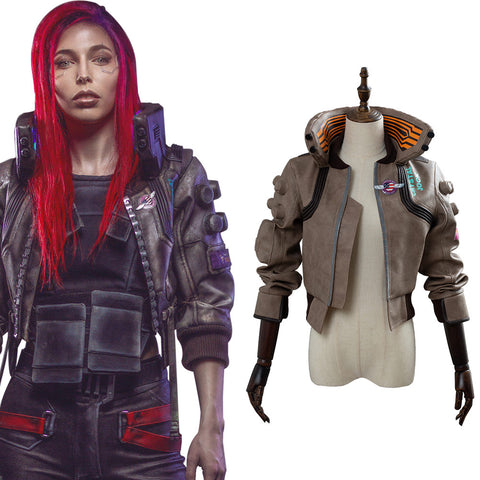 Cyberpunk 2077 Samurai Veste Version Femme Cosplay Costume