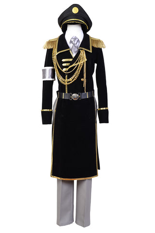 K Return of  Kings Yatogami Kuroh Uniforme Militaire Cosplay Costume