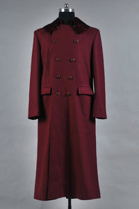 Doctor Who 4e Dr Manteau Rouge Cosplay Costume
