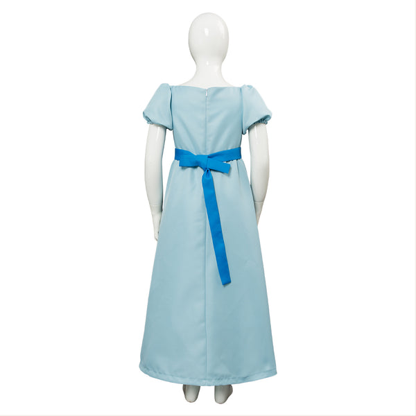 Déguisement Fille Peter Pan Wendy Darling Robe Costume Enfant