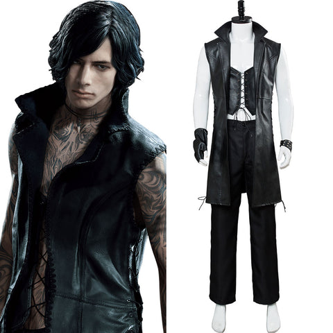 Devil May Cry 5 Mysterious Man Vitale V Cosplay Costume