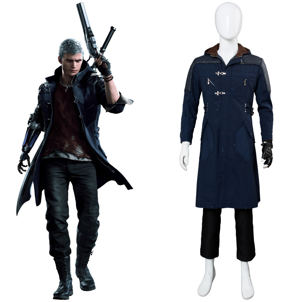Devil May Cry V DMC 5 Nero Manteau Cosplay Costume Ver A