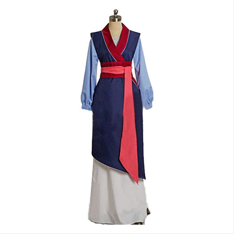 Disney Film Mulan Hua Mulan Robe Halloween Cosplay Costume