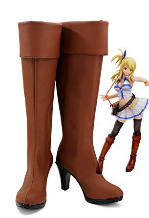 Fairy Tail Lucy Bottes Cosplay Chaussures