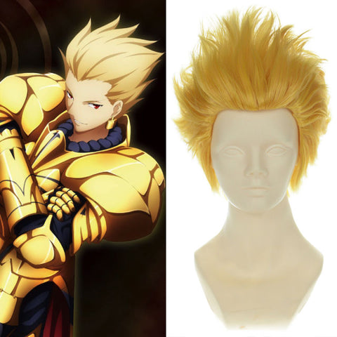 Fate/Zero Archer Perruque Blonde Cosplay Perruque