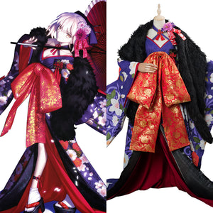Fate Grand Order Artoria Pendragon Kimono Cosplay Costume