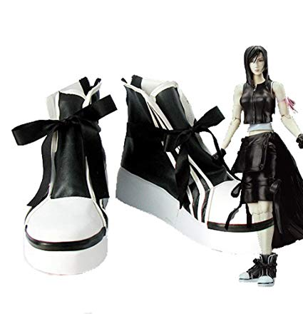 Final Fantasy VII 7 Tifa Botte Cosplay Chaussures