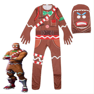 Fortnite Gingerbread Man Cosplay Costume Pour Enfant