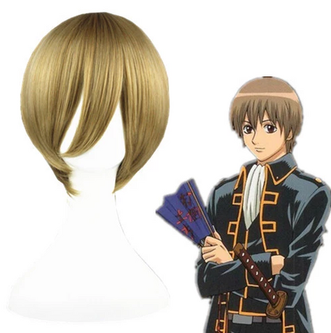 Gintama Okita Sougo Cosplay Perruque