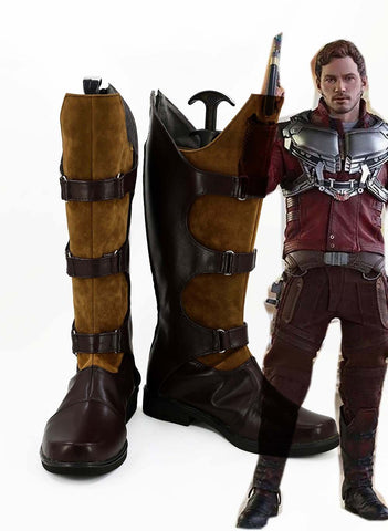 Guardians of the Galaxy Peter Jason Quill Starlord Bottes Cosplay Chaussures