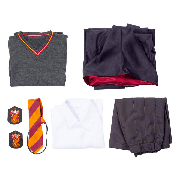 Harry Potter Gryffindor Uniforme Scolaire Hermione Granger Cosplay Costume Version D'enfant
