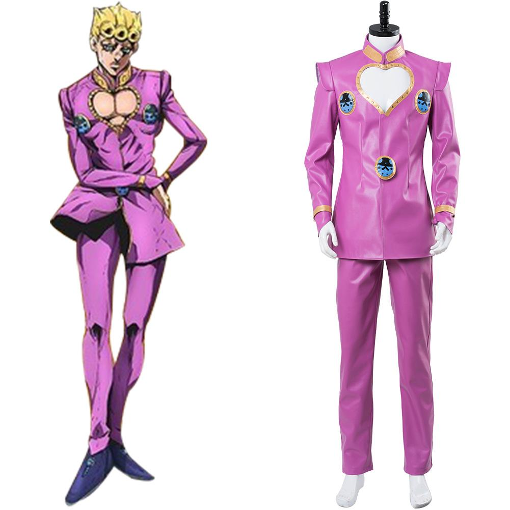 JoJo's Bizarre Adventure Golden Wind Giovanna Giorno Cosplay Costume