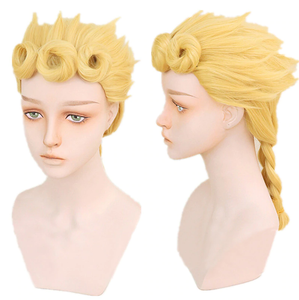 JoJo's Bizarre Adventure Golden Wind JJBA Giorno Giovanna Cosplay Perruque