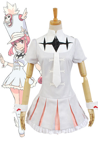 KILL la KILL Nonon Jakuzure Uniforme Cosplay Costume Version Blanche