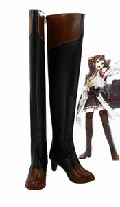 Kantai Collection Navire Japonais Kongou Botte Cosplay Chaussures