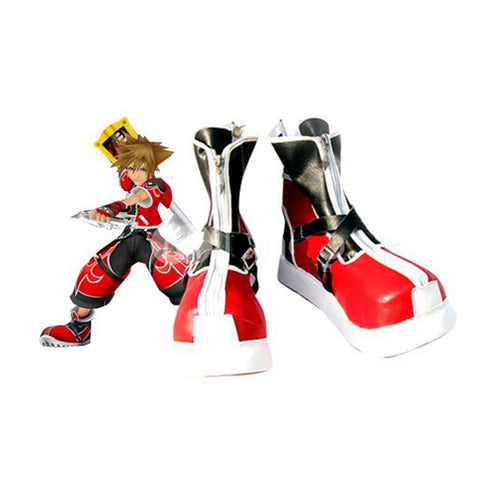 Kingdom Hearts II Sora Botte Rouge Cosplay Chaussures