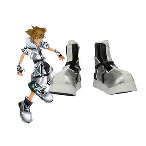Kingdom Hearts II Sora Botte d'argent Cosplay Chaussures