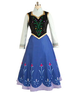 La Reine Des Neiges Princesse Anna Robe Cosplay Costume