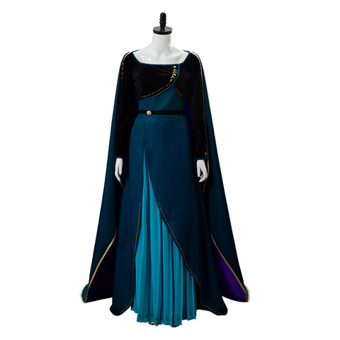 La Reine des Neiges 2 Frozen 2 Anna Corronnement Robe Cosplay Costume