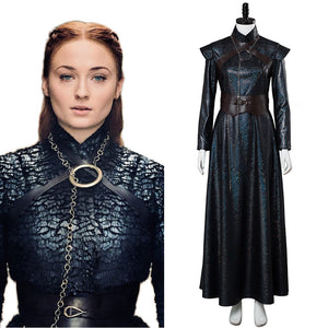 Le Trone De Fer 8 GOT Game of Thrones 8 Sansa Stark Cosplay Costume