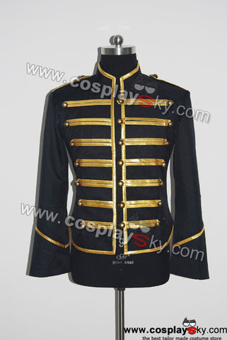 My Chemical Romance Defile Militaire Veste Noire & Or Cosplay Costume