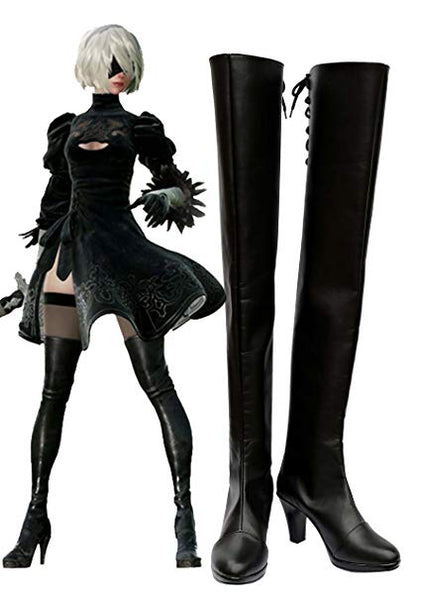 NieR/ Nier : Automata 2B Bottes Cosplay Chaussures