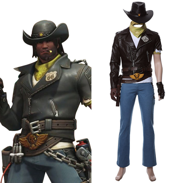 Overwatch Jesse Mccree Deadlock McCree Skin Cosplay Costume