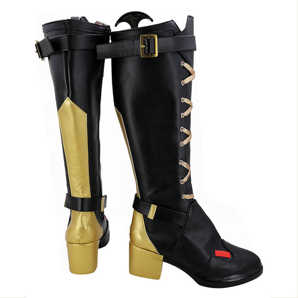 Overwatch OW Ashe Bottes Cosplay Chaussures
