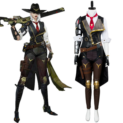 Overwatch OW Ashe Uniforme Cosplay Costume